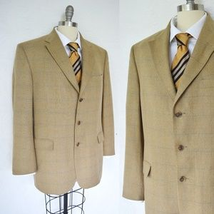 BURBERRY'S plaid check sports coat blazer wool 42R